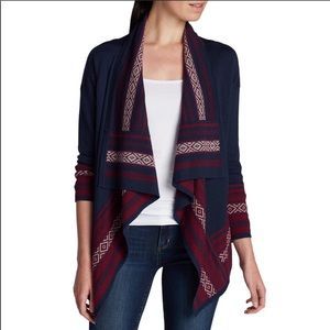 Eddie Bauer Open Wool Blend Cardigan Boho sweater